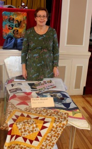 Helen with items she has worked on with EYES.