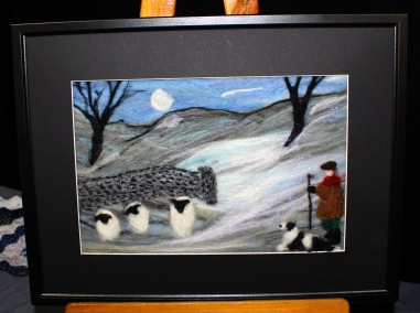 !st attempt at felting, a kit made personal with the addition of the shepherd and his dog.